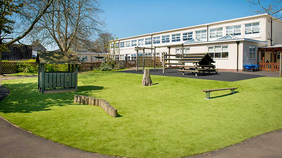 Lazylawn Morpeth School Artificial grass Install