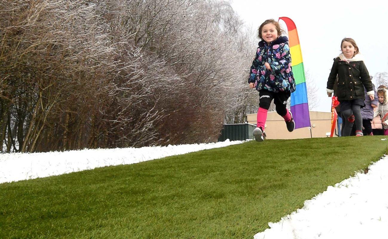 Artificial Grass Running Track